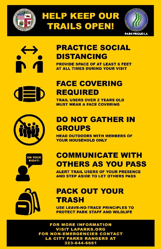 Help Keep Trails Open Physical Distancing Infographic