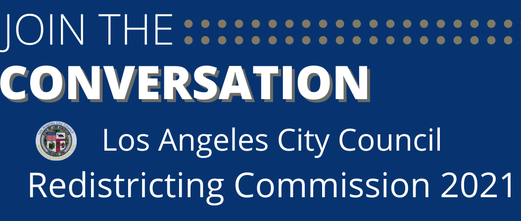 Redistricting - Join the Conversation flyer